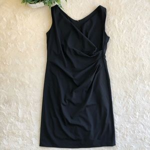 Armani collezioni black sleeveless ruched dress 12